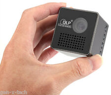 Pocket Pico DLP Mini Projector: 70 Inch Display, 950mAh Battery, SD Card Support