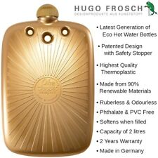 Hugo Frosch Eco Hot Water Bottle Gold 2l Made in Germany