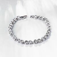 6mm with Swarovski Crystal Tennis Bracelet in 18K White Gold Plated