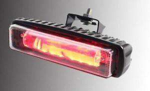 """FORKLIFT 6"""" RED LINE 30W LED SAFETY/ WARNING PEDESTRIAN LIGHT WITH  SSTEEL MOUNT"""