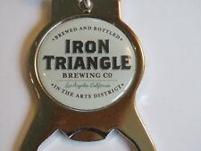 Nice Key Chain Metal Bottle Opener ~ IRON TRIANGLE Brewing Co ~ Los Angeles, CA