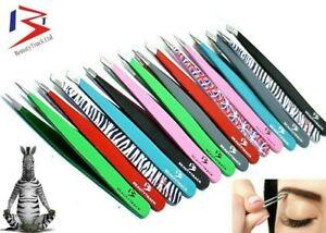 Professional Eyebrow Tweezers Hair Beauty Slanted Stainless Steel Handmade-Tools