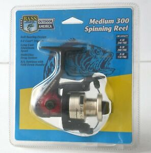 Shakespeare Long Cast 300 Spinning Reel- BASS Outdoor AM Branded, sold by Kmart