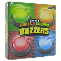 Learning Resources Lights & Sounds Buzzers (Set of 4)