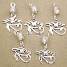 5x Viking Wedjat Eye of Horus Ra Beard Bead Dreadlocks Braid Hair Dress Clip Pin