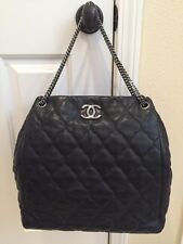 Authentic Chanel Lamb skin Grand Shopping Tote