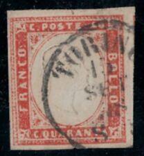 SARDEGNA 40 C. ROSSO SCARLATTO, N° 16A, OTTIMO. FIRMA SORANI. RIF 168/107