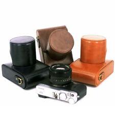 For Fuji X-E4 X-E3 X-E2 X-A3 X-A5 X-A7 Fujifilm Camera Leather case Bag Strap