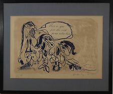 Pierre Alechinsky (Belgian,b.1927) Original Lithograph Pencil Signed Numbered