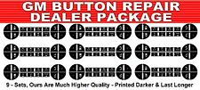 Qty 9 GM Button Decals Stickers Climate Control A/C Chevrolet Sierra Yukon Tahoe