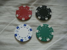 4 x Shimmed Magnetic Poker / Casino Chips - Great for PK Ring and Raven etc.