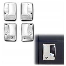 For 99-16 Ford F250 F350 Super Duty Chrome 4 Door Handle Covers SD 2 Keyholes
