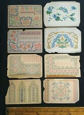 Pattern Pages Counted Thread  Work Berlin 1800's Floral Designs and Alphabet