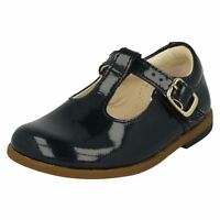 Girls Infant Clarks T-Bar Shoes Drew Shine