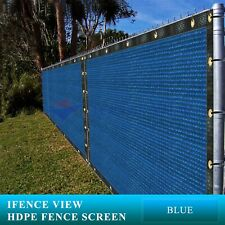 New listing Ifenceview 24 FT Wide Blue Fence Privacy Screen Patio Top Sun Shade Cover Cloth
