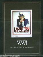 TUVALU 2014 CENTENNARY OF WORLD WAR I  SOUVENIR SHEET  IMPERFORATE MINT NH