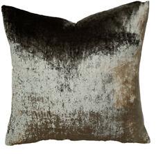 "Green Grey Shimmering Velvet Cushion Cover Designers Guild Fabric Square 16"""