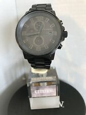 Citizen NightHawk EcoDrive Chronograph Black Dial Black Ion-plated Men's Watch