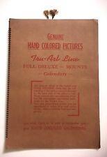 VTG 1950'S SALESMAN SAMPLE TRU-ART LINE HAND COLORED PICTURE CALENDARS & PRINTS