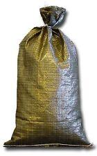Military Sandbags Deluxe Quality - 20 Empty Heavy Duty Green Sand bag 14x26