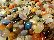 Tumbled Crystals Mix 1Lb UNDYED Gemstones Rocks Stones Reiki Crystal Healing