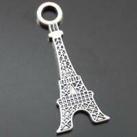 58pcs Vintage Silver Alloy Fashion Eiffel Tower Pendant Charms 31*12*1mm 39638
