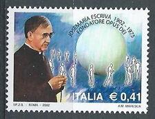2002 ITALIA JOSEMARIA ESCRIVA MNH **