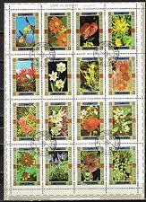 Umm Al Quiwain Flora Arabian Tropical Flowers set 1973