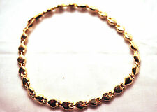 LADIES 10 IN GOLD HEARTS HEALING MAGNETIC THERAPY LINK ANKLET:  Helps Pain!