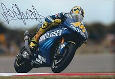 VALENTINO ROSSI Autograph SIGNED YAMAHA 12x8 Photo AFTAL COA Gauloises The Dr