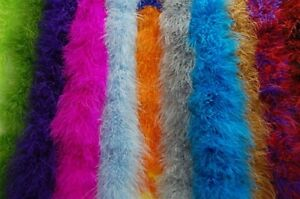 20 MARABOU 22 Gram FEATHER BOAS 2 Yards MANY COLORS! Costumes/Halloween/Bridal