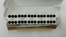 """Casino Quality Craps Polished White Stick of 5 Precision Dice 3/4"""" A Grade New"""