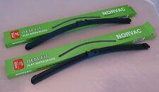 """VW Bora 05.02-05.05 OEM Norvac Flat Wiper Blades 21""""/18"""" (Pair)"""