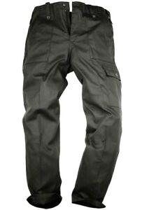 MILITARY OG COMBAT CARGO PANTS Gents 48 w plain black British Army Nato trousers