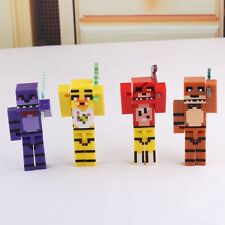 "Minecraft Nights 4pc Set 2-1/2"" Birthday Cake Topper Figurines Set"