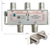 Sat-Verteiler, Y-Splitter, Antennenverteiler, Koax, TV 4-way Spliter, #637