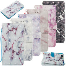 Hot Sell Marble Pattern Wallet Leather Flip Phone Case Cover With Hand Strap YB