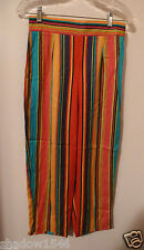 MICHAEL SIMON RAINBOW Multi Color 100% Rayon Capri Crop Pant Size Medium