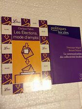 2 LIVRES==La communication des collectivités locales++Les Elections,moded'emploi