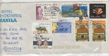 Philippines 1969 Airmail Hotel Cover To Rhodesia Postal History J216