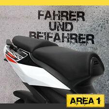 Aprilia SR 50 R / FACTORY Sitzbezug Set - Schwarz / Schwarz