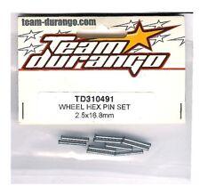 RC Team Durango TD310491 Wheel Hex Pin Set 2.5 x 16.8MM DNX408 DNX408T Universal