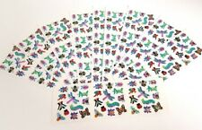 Sandylion Sticker Sheet Lot 10 Strips Bugs Bee Butterfly Prism Sparkle 6.5 x 2