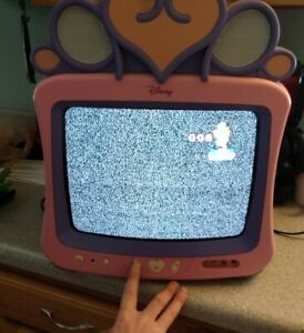 "Disney Princess Pink 13"" CRT Color TV Retro Gaming  DT1350-P Tested!"