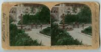 Ponce De Leon Hotel St Augustine Florida Vintage Hand painted Stereoview Photo