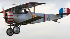 Huge Giant 1/2 Scale French WW-II Nieuport 17 Biplane Plans and Templates 160ws