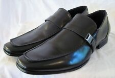 Kenneth Cole Reaction Steel Beam Men's Black Slip On Loafers Dress Shoes, 10.5M
