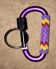Beautiful Native American Lakota Sioux Beaded Snap Key Chain.