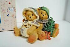 Cherished Teddies-Cheryl & Carl-Cozy Christmas-winter bear figurine w/box