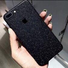 Apple iPhone 8 Plus Fashion Anti-Scratch Matte Glitter Decal - Black
